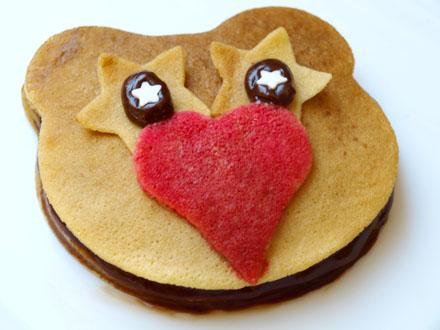 Gâteau de crêpe amoureux