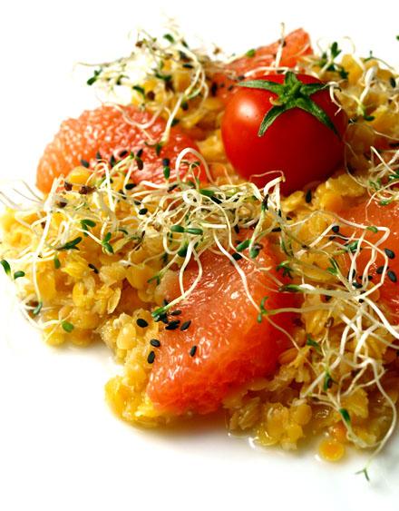salade de lentilles corail aux agrumes sans gluten cookismo recettes saines faciles et. Black Bedroom Furniture Sets. Home Design Ideas