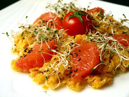 Salade de lentilles corail aux agrumes