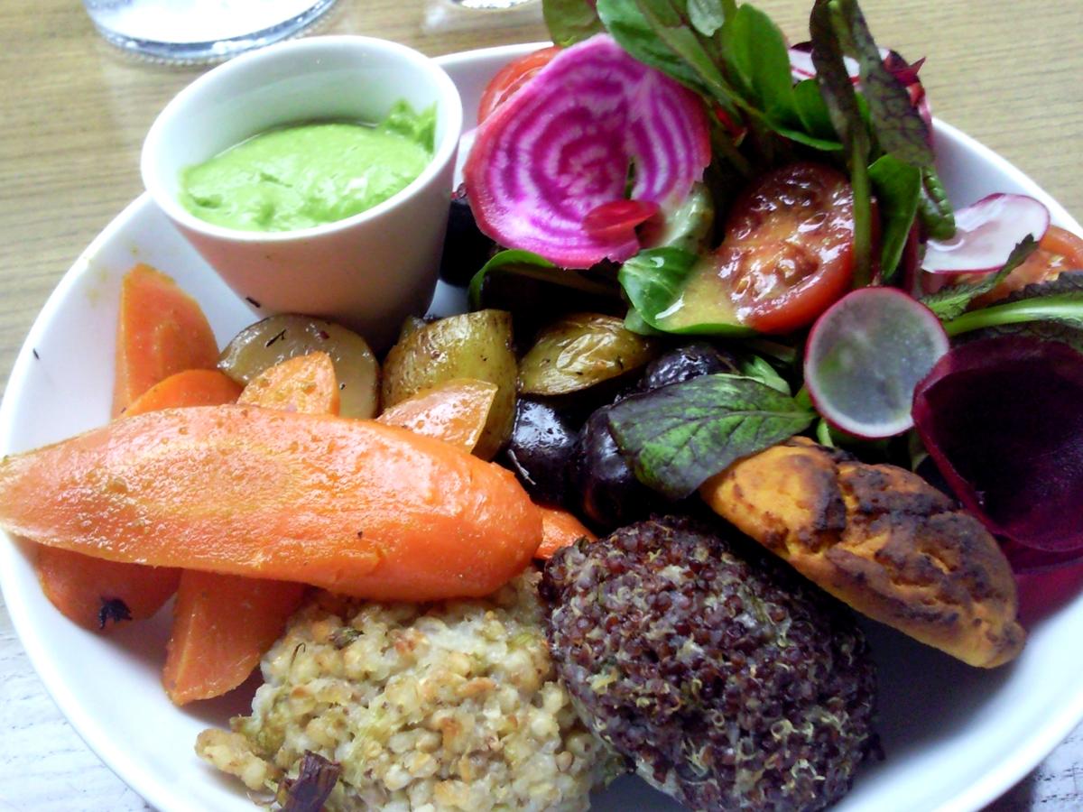 Assiette sans gluten du Café Pinson à Paris