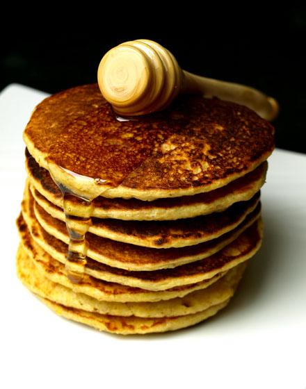 Pile de pancake au son d'avoine