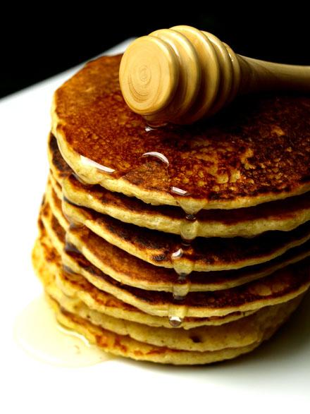 Pancake au son d'avoine et aux lentilles corail