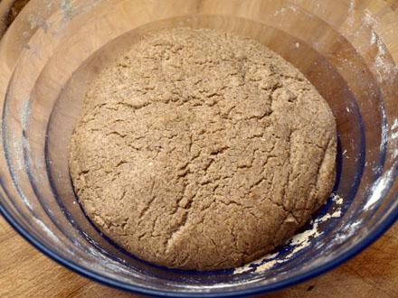 Pâte à pain au sarrasin après pousse