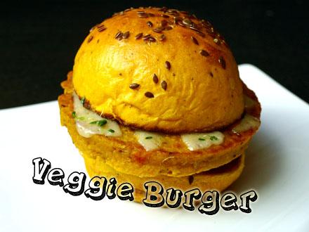 Burger végétarien à l'indienne