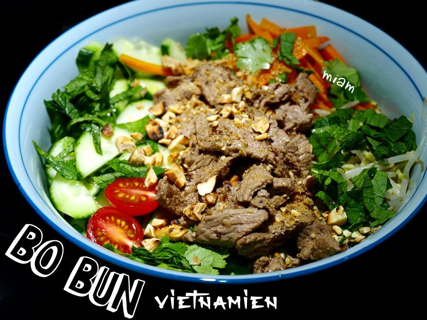 Bo Bun vietnamien au boeuf