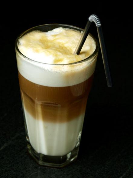 Latte macchiato au sirop d'érable