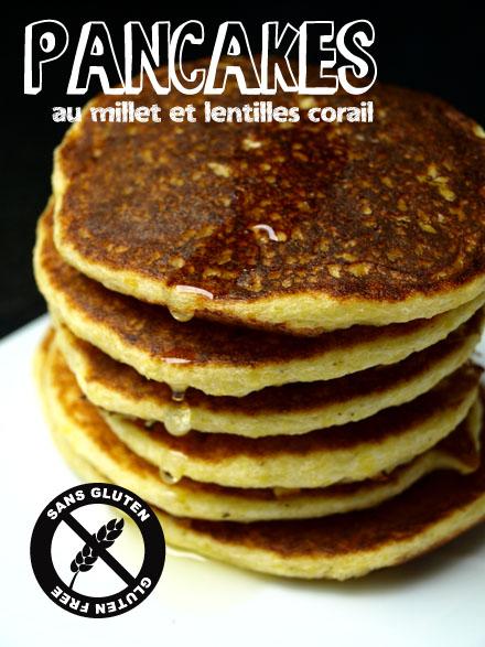 Pancakes aux flocons de millet et lentilles corail sans gluten