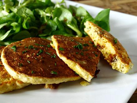 Pancakes sans gluten saveur provençale