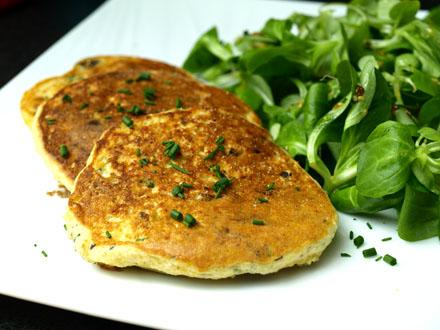 Pancakes salés sans gluten saveur provençale