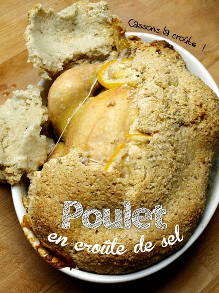 Poulet en croûte de sel (et farine)