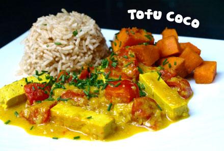 Curry de tofu au lait de coco « Cookismo | Recettes saines, faciles on