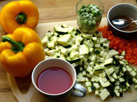 Ingrédients des poivrons cajuns au millet
