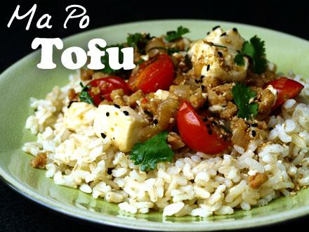 Ma Po Tofu végétarien
