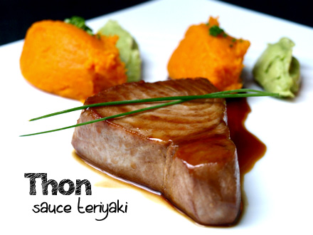 Steak de thon sauce teriyaki