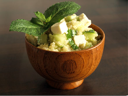 Taboulé de quinoa à la menthe fraîche