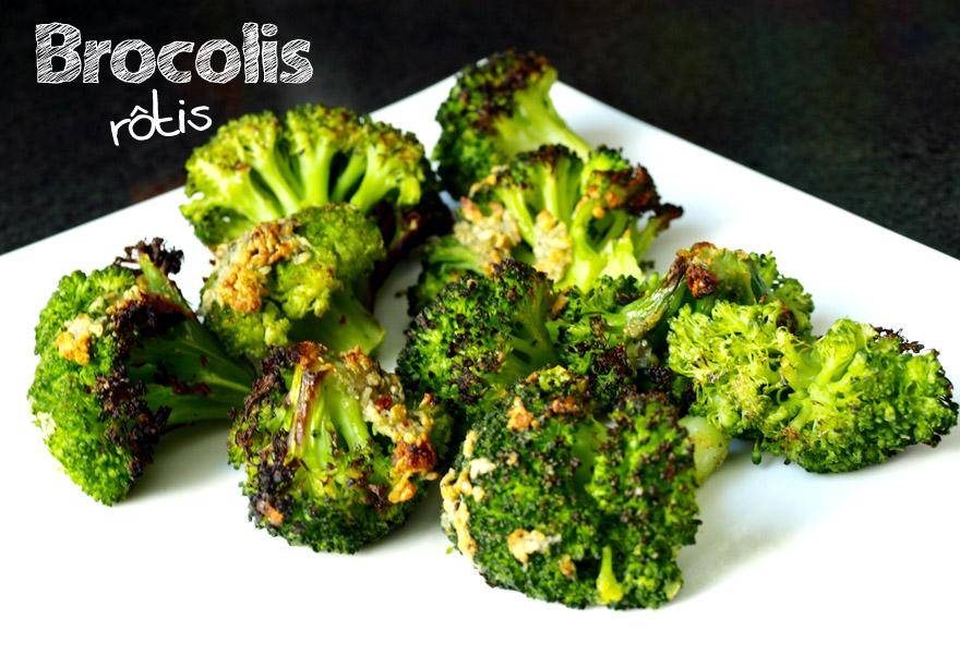 Brocolis rôtis à l'ail