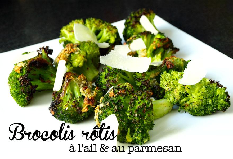 Brocolis rôties à l'ail et au parmesan