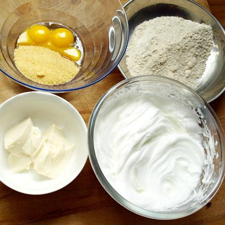 Ingrédients du moelleux choco-noisettes sans gluten