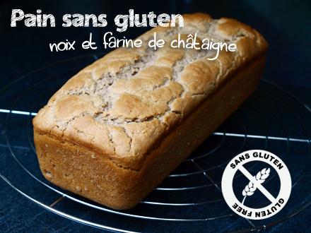 Pain sans gluten aux noix et farine de châtaigne