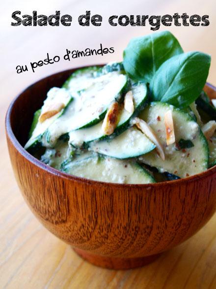 Salade de courgettes au pesto d'amandes