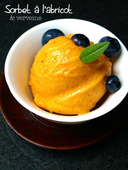 Sorbet abricot-verveine maison