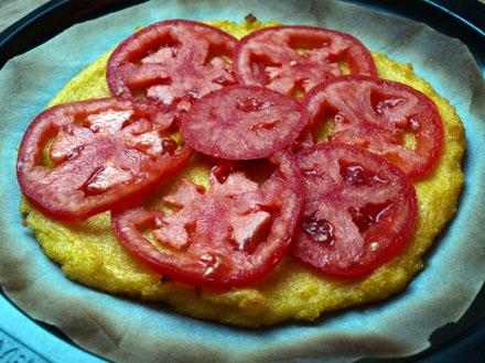 Ajout des rondelles de tomate