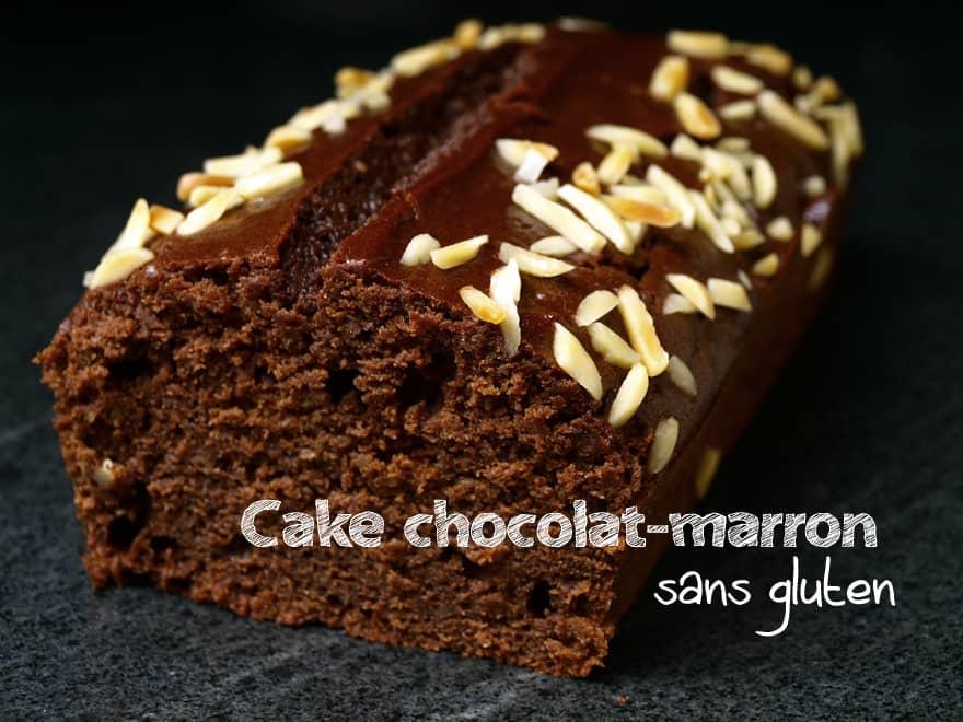 Cake chocolat-marron sans gluten