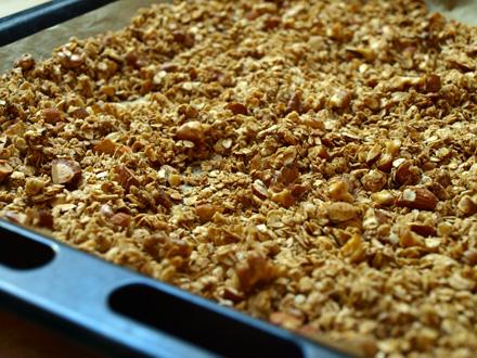 Granola maison cuit