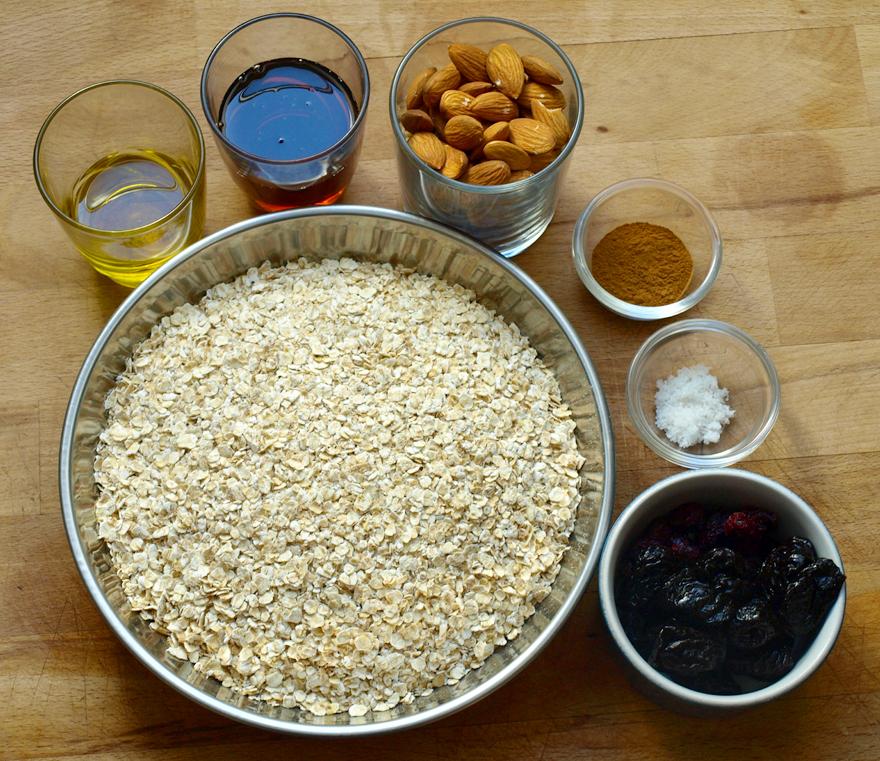 Ingrédients du Granola maison