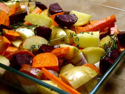 Légumes avant cuisson au four