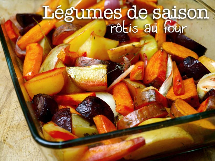 Légumes de saison rôtis au four