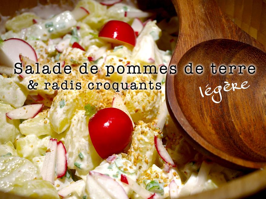 Salade de pomme de terre légère aux radis croquants