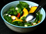 Recette salade de pousses d'épinards, nectarine et feta