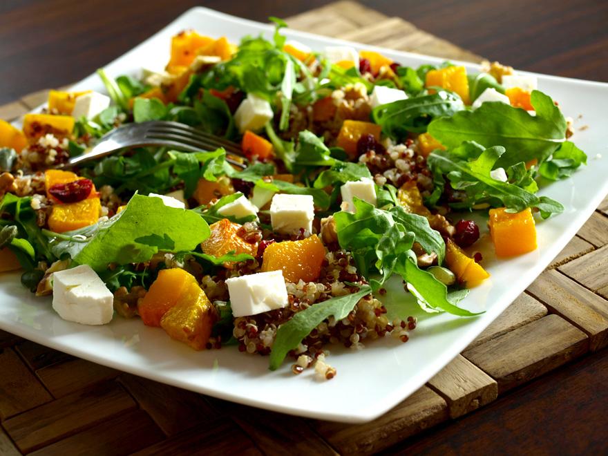Salade de quinoa à la courge butternut