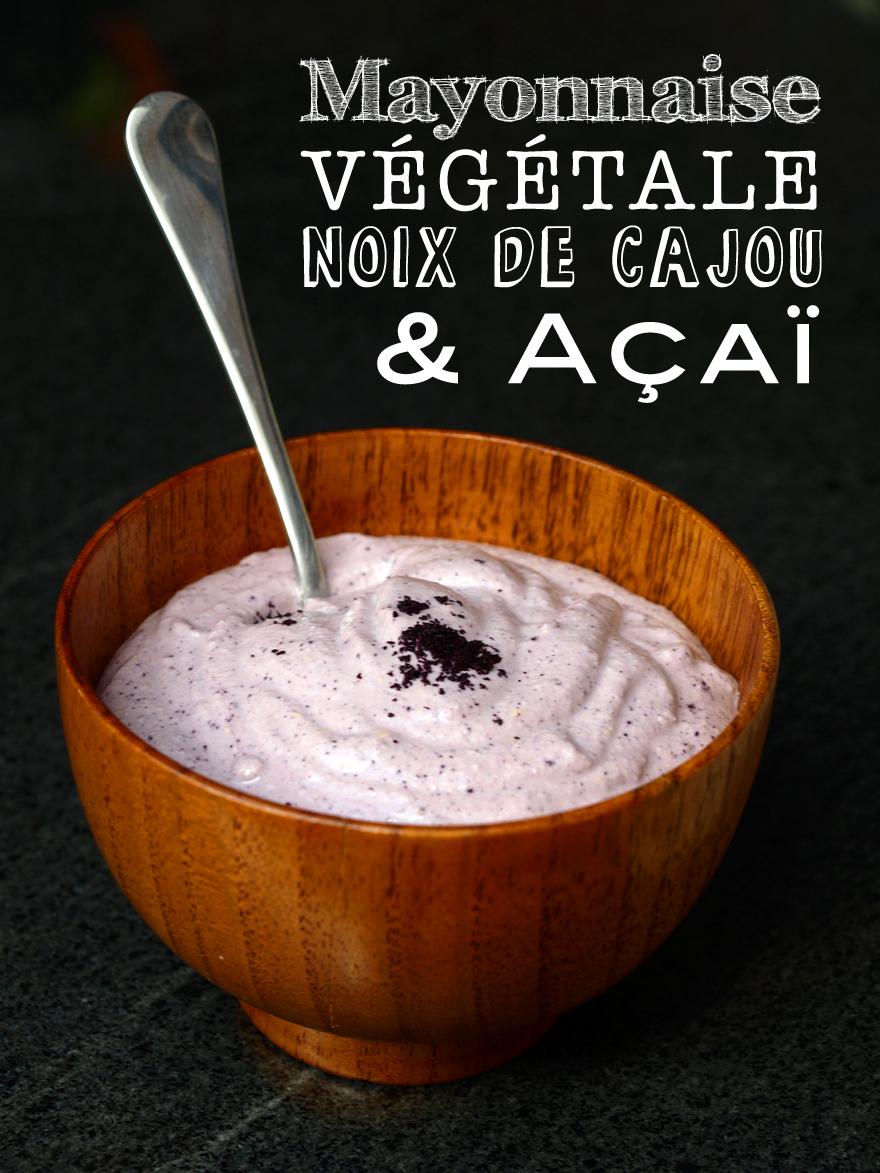 Mayonnaise végétale (sans oeuf) à l'açaÏ