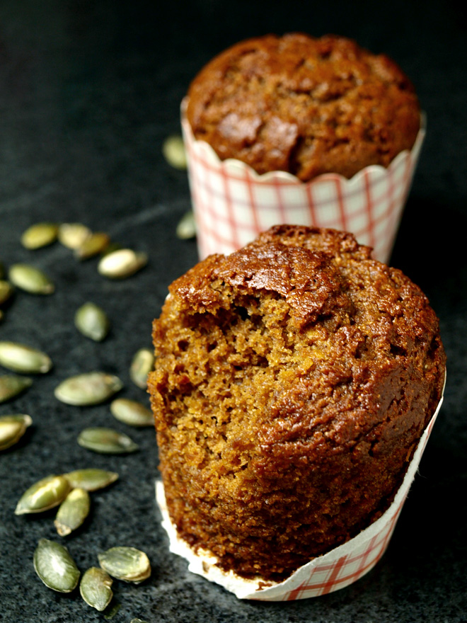 Muffins à la cannelle (sans gluten) croqués