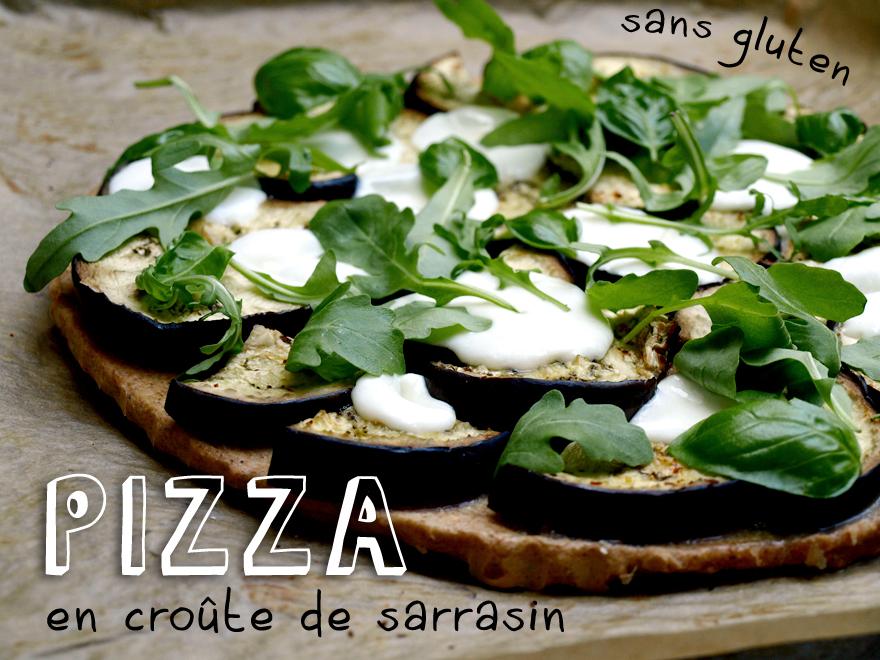 Pizza sans gluten en croûte de sarrasin