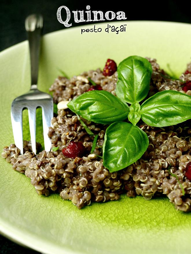 Quinoa au pesto d'açaï