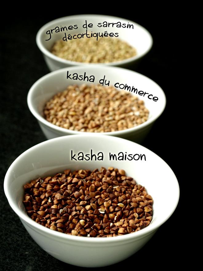 Des graines de sarrasin grillées au kasha maison