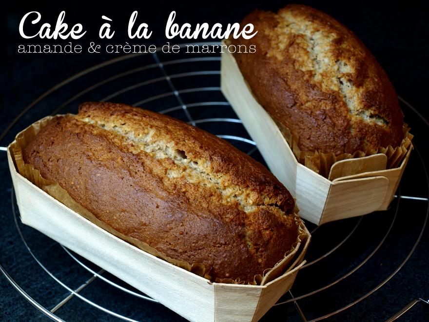 Cake à la banane, amande et crème de marrons
