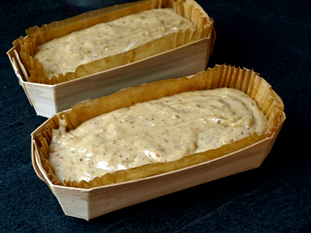 Cake banane-amande-creme de marron avant cuisson