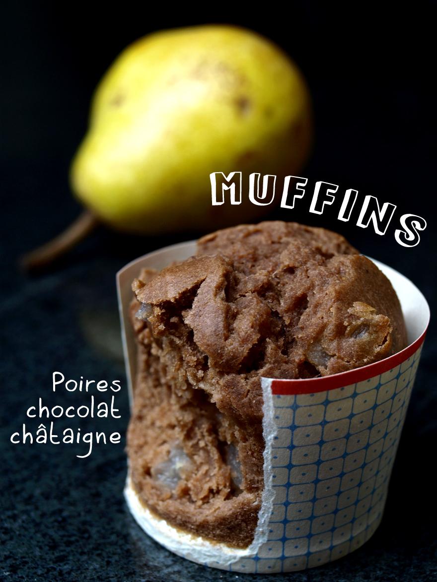 Muffins poire chocolat sans gluten