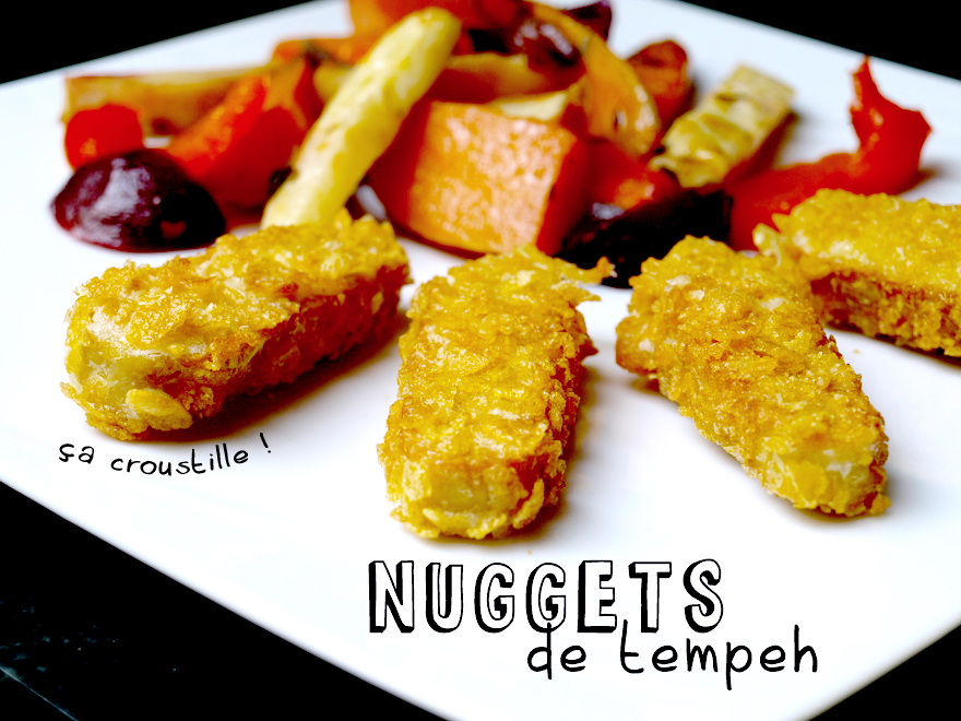 Nuggets de tempeh aux corn-flakes