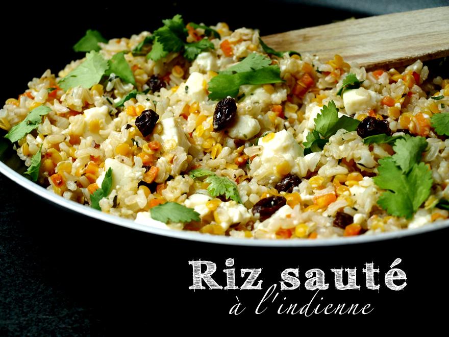 Riz au tofu soyeux sauté à l\u0027indienne