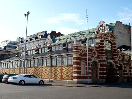 Vieille halle du marché d'Helsinki