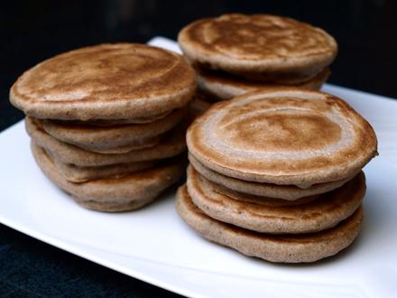 Blinis à la farine de sarrasin, sans lactose