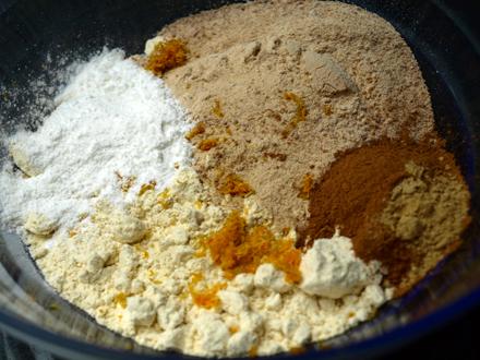 Ingrédients secs - recette muffins sans gluten