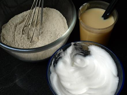 Ingrédients des blinis à la farine de sarrasin
