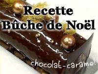 Recettes Bûche de Noël chocolat-caramel