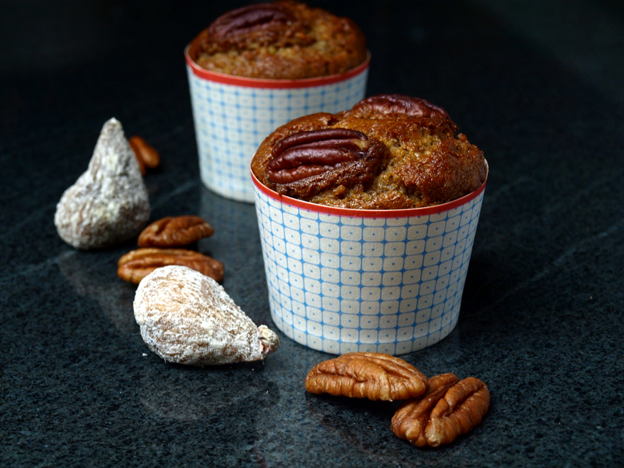 Muffins sans gluten aux figues et noix de pécan